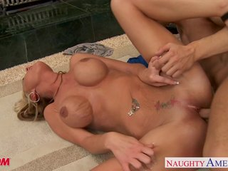 Mr Big blonde female parent Allison Kilgore encircling cock