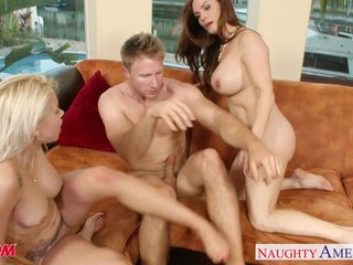 Naughty moms Diamond Foxxx with an increment of Marsha May