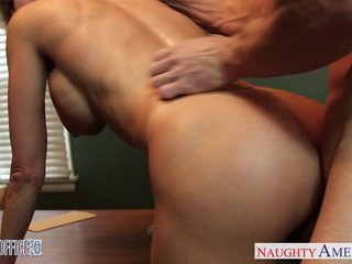 Stockings office babe Brandi Fancy gets nailed