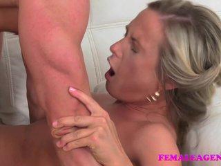 FemaleAgent Sexy original blonde agent fucks stud