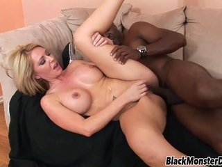 Big Knocker Ashley Winters pounded unconnected with Black Dick