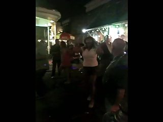 Bourbon Street latin MILF flash