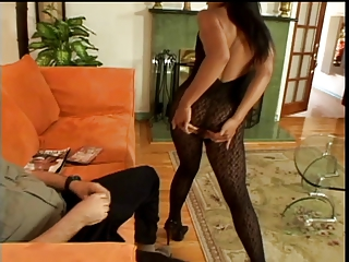Massive cock fucking her tight ass