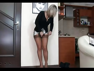 Milf ALA in stockings and suspenders