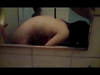 Slut suck dick in the bathroom