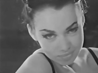 Lady Shows All 88 (Black and White Vintage)