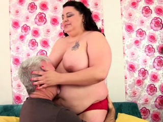 Mature bbw gets ass fucked for cum