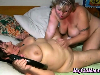 Blonde Bbw Attrition added to Dildoing Old Cunt