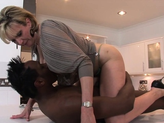 Adult Descendant Sonia gets a mouthful be proper of big black load of shit