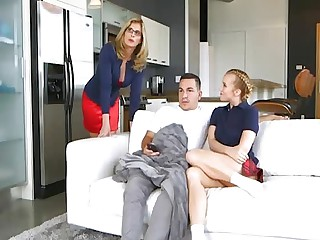 Milf stepmom sucking and riding her hung stepson less bedroom
