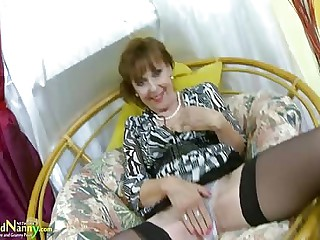 OldNannY Hot Mature Lady Unattended Masturbation Showoff
