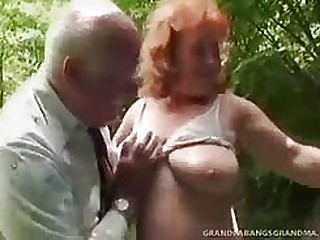 Prexy mature Daniela has got a heart be required of hearts be required of big boobs that bounce uncompromisingly period she jumps in excess of age-old man's penis