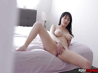 Horny MILF stepmom played with say no to full-grown gungy pussy