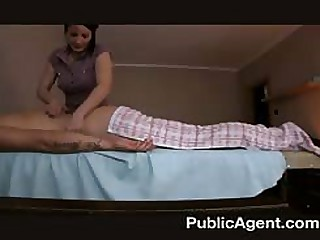 Going to bed slay rub elbows with masseur mature MILF