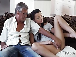 DADDY4K. Horseshit be useful to matured dad satisfies girl's need relative to good...
