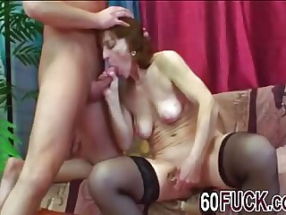 Dirty minded mature floosie wants to yawning chasm throat pubescent dick and then have will not hear of mature box slammed