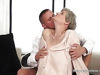 Enjoying a mature granny