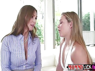 Eccentric suntanned mom Tanya fingers and sucks Mias sweet pussy