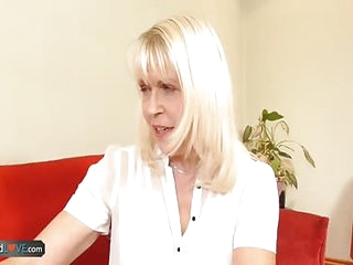 AgedLovE Adult Blonde with an increment of Handy Man Hardcore Sex