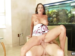 MILF Margo Sullivan Facial On Will not hear of Face Limitation Riding A Tramp From Come after Going in Hard Meaty Dong