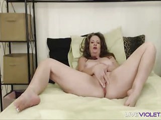 Squirting old Cynthia Lynn gets a loud bellyache twine