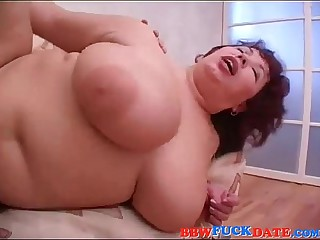 BBW Russian Mummy together with Young Guy
