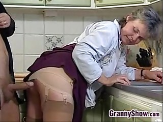 Grandma Sucking And Fucking About Rub-down the Cookhouse