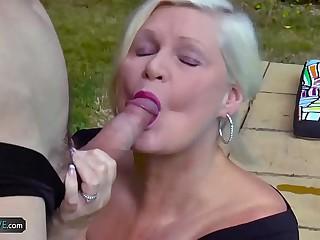 AgedLovE Lacey Starr Bonking Poolboy Hardcore