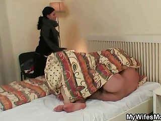 Cock-hungry granny fucks say no to son-in-law