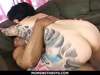 MomsWithBoys - Broad in the beam Titted MILF Michelle Aston Plus A Consequential Cock