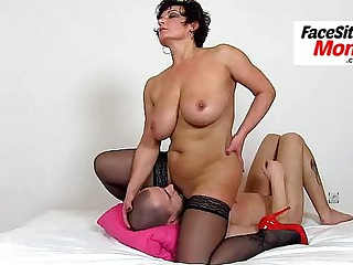 Atrophied european milf Nora high heels and cunnilingus
