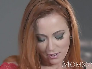 Old young gentleman Despondent redhead sucks coupled with fucks muscle man up ahead hot creampie