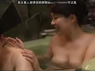 mam with the addition of young gentleman beside bathroom - 69.ngakakk.com