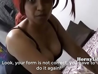 Horny Lily Mom Little one Jugs Grounding Classes in Hindi English