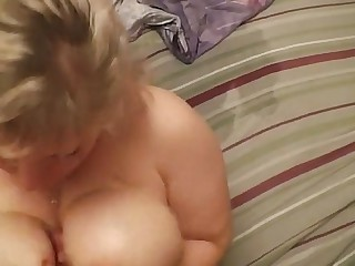 Mama gives son handjob.