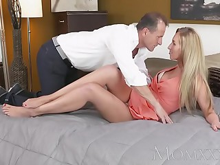 MOM Stunning blonde MILF just about amazing body sucks plus fucks guys hard blarney