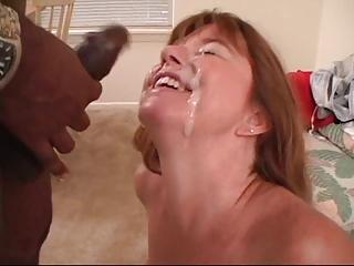 Thick Interracial Facial