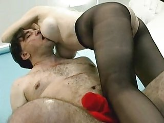 Hot Mart Cougar Dalny Stocking Making love