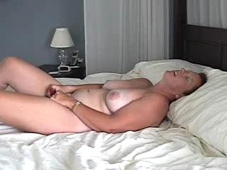 MILF Films Herself Masturbating and Cumming
