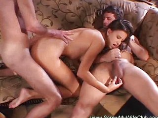 Horny housewife screwed apart from stranger