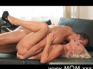 Blonde MILF gets fucked hard
