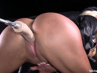 Nikita Von James gets fucked at the end of one's tether a machine